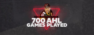 Read more about the article KOSTOPOULOS APPEARS IN 700th AHL GAME