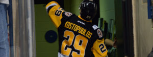 Read more about the article PENGUINS WIN BIG IN KOSTOPOULOS' FINAL HOME GAME