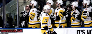 SPRONG SETS FRANCHISE RECORD IN PENGUINS' 3-2 WIN
