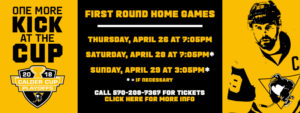 PENGUINS ANNOUNCE FIRST ROUND HOME PLAYOFF DATES