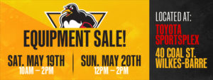 Read more about the article PENGUINS LOCKER ROOM EQUIPMENT SALE THIS WEEKEND
