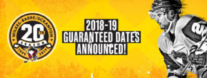 Read more about the article PENGUINS ANNOUNCE GUARANTEED HOME DATES