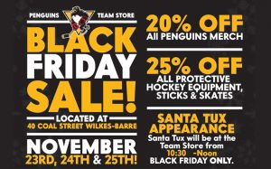 Read more about the article GREAT DEALS AT THE PENGUINS BLACK FRIDAY WEEKEND SALE