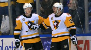 Read more about the article HAGGERTY HAT TRICK LEADS PENGUINS OVER PHANTOMS