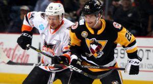 Read more about the article PENGUINS ERUPT FOR 7-3 WIN AT LEHIGH VALLEY