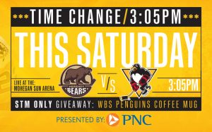 Read more about the article SATURDAY'S GAME CHANGED TO 3:05PM START