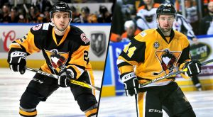 TAYLOR, BROWN REJOIN PENGUINS FROM WHEELING