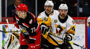 PENGUINS DOWNED BY GRIFFINS, 4-1