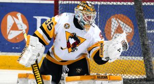 JARRY'S 38 SAVES FORCE OVERTIME, BUT PENGUINS LOSE, 1-0