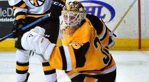 JARRY LIGHTS OUT IN PENGUINS' 2-0 WIN