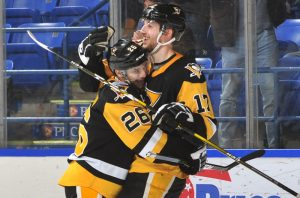 ANGELLO'S HAT TRICK POWERS PENGUINS TO 4-2 VICTORY