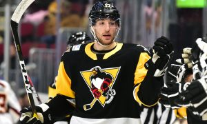ANGELLO SCORES TWICE AS PENGUINS BEAT MONSTERS, 3-1