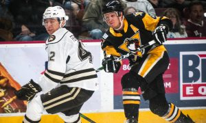 PENGUINS LOSE IN OVERTIME TO BEARS, 3-2