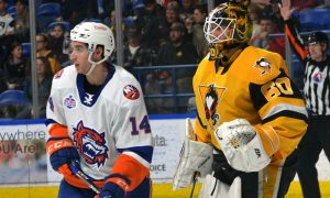 PENGUINS LOSE TO SOUND TIGERS IN SHOOTOUT, 3-2