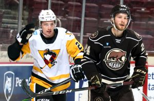 Read more about the article McMICHAEL'S HAT TRICK FOILS PENGUINS IN 3-1 LOSS TO BEARS