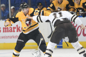 Read more about the article EXCITING, FIGHT-FILLED GAME ENDS WITH 5-4 PENGUINS LOSS